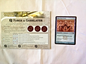 7 Forge a Godslayer card