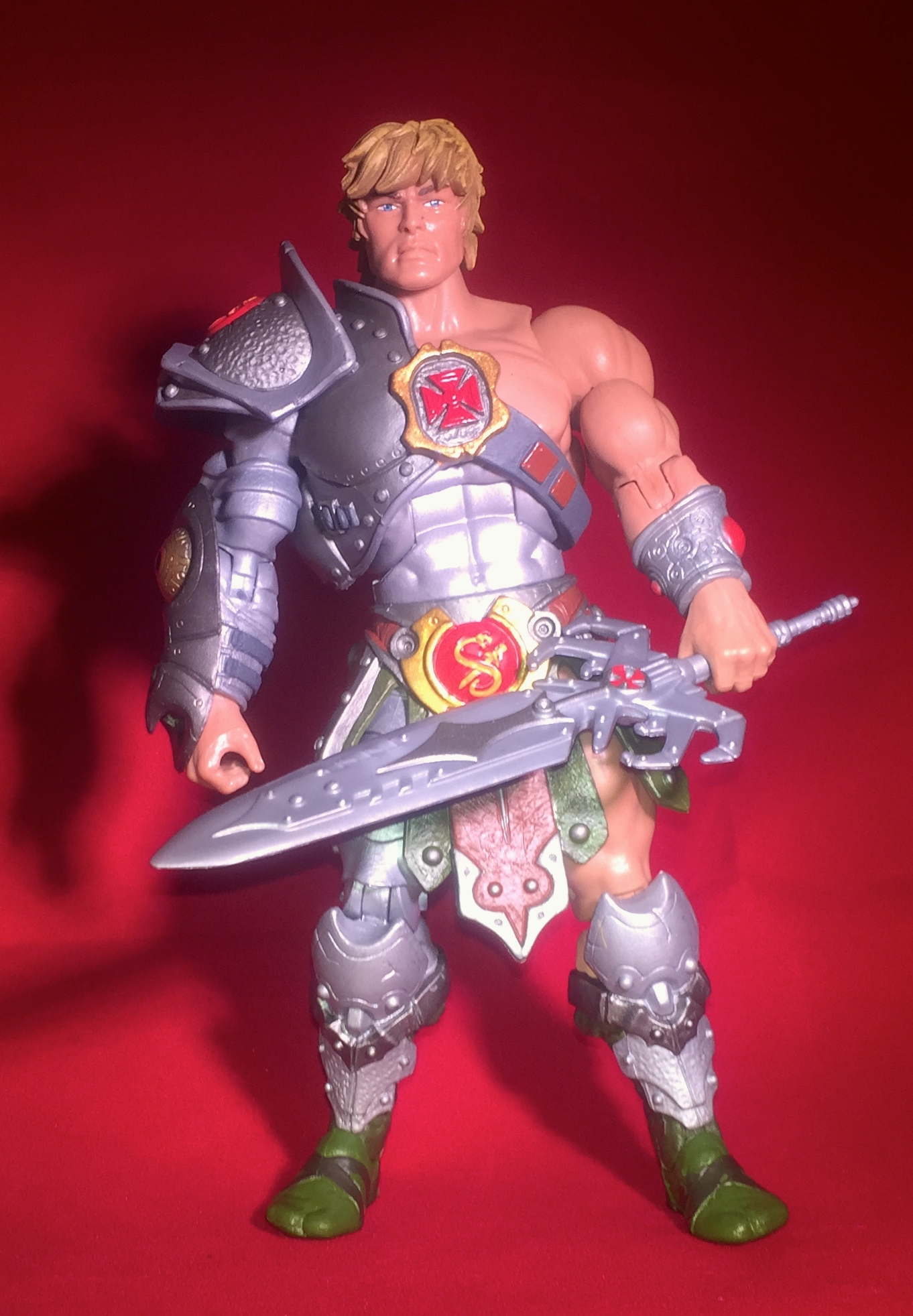 Pré-commande Vintage Masters Of The Universe Custom Teela Armor Staff Shield Gold Set He-man Masters